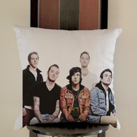 pierce the veil Sleeping With Sirens Pillow, Pillow Case, Pillow Cover, 16 x 16 Inch One Side, 16 x 16 Inch Two Side, 18 x 18 Inch One Side, 18 x 18 Inch Two Side, 20 x 20 Inch One Side, 20 x 20 Inch Two Side