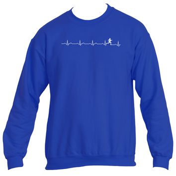 Runner's heartbeat | Heavy Blend™ Sweatshirt | Underground Statements