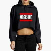 Moschino Cropped Hoodie
