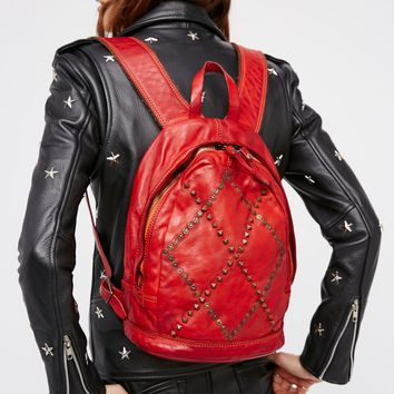 Free People Verona Leather Backpack