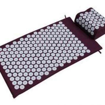Acupressure Spike Yoga Pillow Mat Relieve Stress Pain Relief Acupuncture Cushion Neck Back Shakti Massager Foot Relax Massage