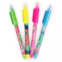 Lilly Pulitzer Pen with Highlighter Set - Jelly Pens-Pencils-Pens - School Essentials   |  Shop Glitzy Glam