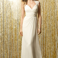 Wtoo by Watters Callisto 11006 Cap Sleeve and Open Back Wedding Dress
