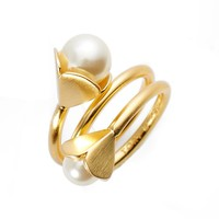 Tory Burch Bellflower Imitation Pearl Ring | Nordstrom