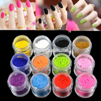 12 Colors New Charm Tips Fuzzy Flocking Velvet Nail Powder Nail Art Tools EN24H on eBay!