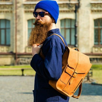 Best Handmade Leather Backpack Products on Wanelo