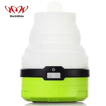 WorthWhile Portable LED Tent Light Outdoor Camping Travel Accessories Equipment Hanging Lamp Fluorescent Telescopic Lantern