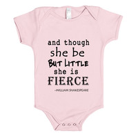 little but fierce baby one piece