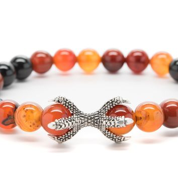 Brown Agate Gemstones Beaded Bracelet for Men and Women