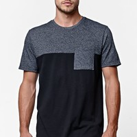 On The Byas Pay Pieced Pocket Crew T-Shirt - Mens Tee - Black