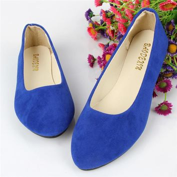 2016 Fashion Soft shoes Slip-on for female women flat shoes round toe daily casual shoes