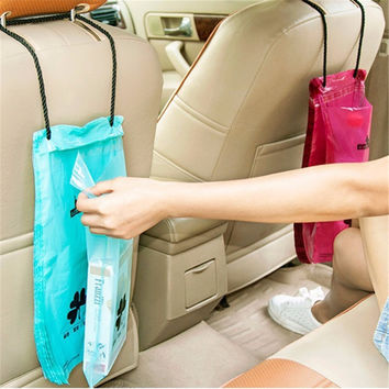 50Pcs/Set Car Organizer Back Seat Garbage Storage Bag Car Trash Bag Recycle Bin Rubbish Bag Auto Backseat Hanging Wastebasket