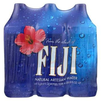 Fiji Natural Artesian Water Artesian Water -1 Liter - Case of 2 - 6/33.8fl oz