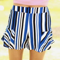 In Formation Striped Shorts