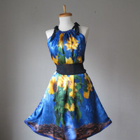 Dress / WEAR ART / Van Gogh / Blue Yellow / by AtelierSignature