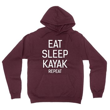 Eat sleep kayak repeat hoodie