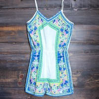 FINAL SALE - spring into summer romper - ivory