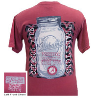 Alabama Crimson Tide Preserved Perfection Mason Jar Comfort Colors T Shirt