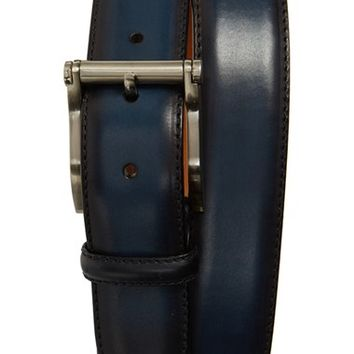 Men's Magnanni 'Carbon' Leather Belt