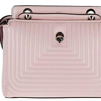 Fendi women's leather shoulder bag original dotcom nappa shiny pink