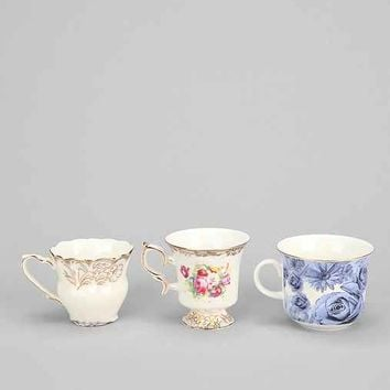 Tea Cup Shot Glass - Set Of 3- Assorted One