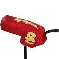 USC Trojans Cardinal Nylon Shaft Gripper Blade Putter Cover