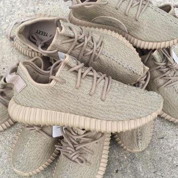 PEAP1 Fashion 'Adidas' Yeezy Boost Solid color Leisure Sports shoes Khaki