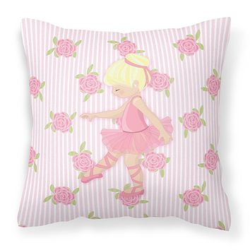 Ballerina Blonde Point Fabric Decorative Pillow BB5171PW1818