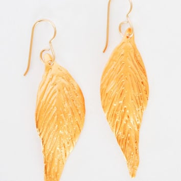 Feather Earrings - Gold