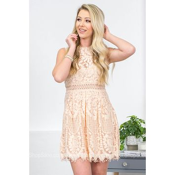 Kenzlee Vintage Lace A-Line Dress
