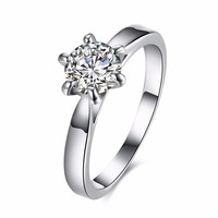 INALIS Platinum Plated Zircon Wedding Gift Finger Rings