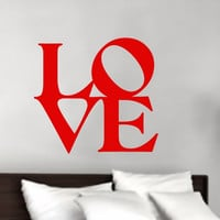 Valentines Day Love Block Word Style B Vinyl Wall Decal 22376