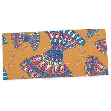 "Miranda Mol ""Tribal Fun Orange"" Abstract Tangerine Desk Mat"