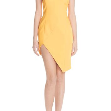 Jay Godfrey Asymmetrical Crepe Sheath Dress | Nordstrom