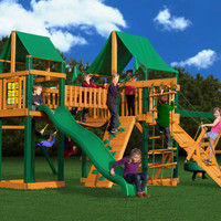 Gorilla Playsets Pioneer Peak Deluxe Wooden Swing Set