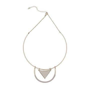 Modern Muse Necklace Gold Cream