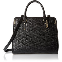 Rosetti Womens Madeline Faux Leather Quilted Tote Handbag