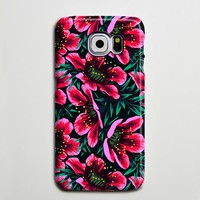 Pink Chic Floral Galaxy S8 Plus Case Galaxy S7 Case Samsung Galaxy Note 5  Phone Case s6-sw01