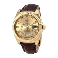 Rolex Sky Dweller Champagne Dial Mens Automatic Watch 326138CAL