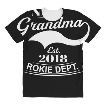 New Grandma 2018 Rokie Dept. All Over Women's T-shirt