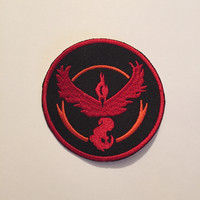 Team Valor Patch, Team Valor Iron On, Team Valor, Pokemon Go Patch, Pokemon Go, Team Valor Sew On