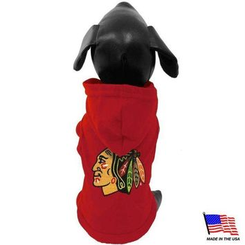 PEAPYW9 Chicago Blackhawks Pet Hoodie