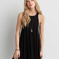 AEO Soft & Sexy Strappy Shift Dress , Black