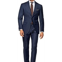 Suit Blue Plain Napoli P4119i | Suitsupply Online Store