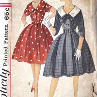 1960's Junior Party Dress Vinage Sewing Pattern, Full Skirt, Simplicity 3794 Bust 33""