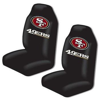 Licensed Official New NFL San Francisco 49ers 2 Front Universal Fit Car Truck  Bucket Seat Covers