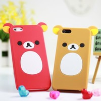 Little Bear Silica Gel Soft Case Cover for iPhone 5
