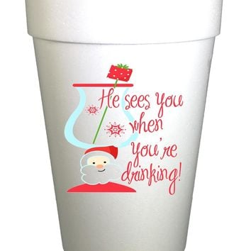 Sees You When Drinking Christmas Cups