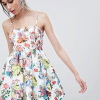 ASOS DESIGN mixed print cami bubble dress at asos.com