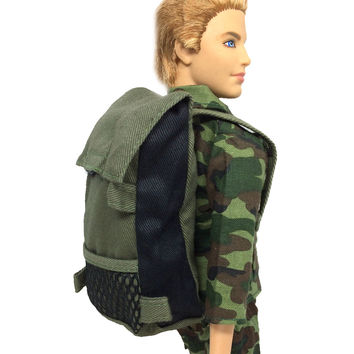 NK Original Prince Doll Knapsack Marines Combat Accessories Bag For Barbie Boy Male Ken Doll For Lanard 1 6 Soldier Best Gift